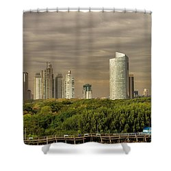 Dramatic Modern Buenos Aires Shower Curtain by For Ninety One Days