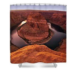 Shower Curtain featuring the photograph Dramatic River Bend by David Andersen