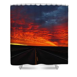 Shower Curtain featuring the photograph Dramatic Sunrise by Lynn Hopwood