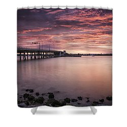 Drawbridge At Dusk Shower Curtain