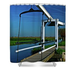 Drawbridge At Zaanse Schans Shower Curtain by Jonah  Anderson