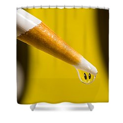 Happy Water Drop Pencil Shower Curtain