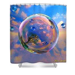 Dream Bubble Shower Curtain by Robin Moline