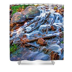 Dream Cascade Shower Curtain by Brian Kerls