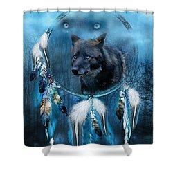 Dream Catcher - Midnight Spirit Shower Curtain by Carol Cavalaris