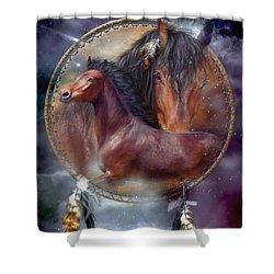 Dream Catcher - Spirit Horse Shower Curtain