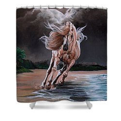 Dream Horse Series 261 - By Moon And By Sea Shower Curtain