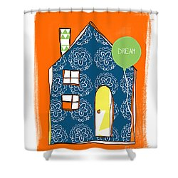 Dream House Shower Curtain by Linda Woods