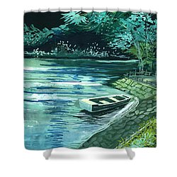 Dream Lake Shower Curtain by Anil Nene