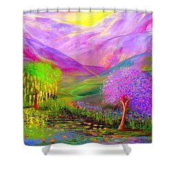 Dream Lake Shower Curtain by Jane Small