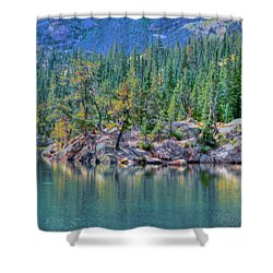 Dream Lake Shower Curtain by Kathleen Struckle