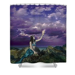 Dream Mermaid Shower Curtain by Alixandra Mullins