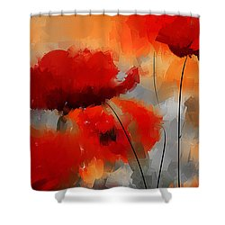 Dream Of Poppies Shower Curtain