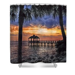 Shower Curtain featuring the photograph Dream Pier by Hanny Heim