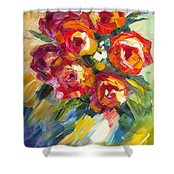 Dream Roses Shower Curtain by Jessilyn Park