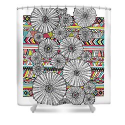 Dream Urchins Shower Curtain by Susan Claire