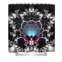 Dreamcatcher And Fireflies Shower Curtain by Renee Trenholm