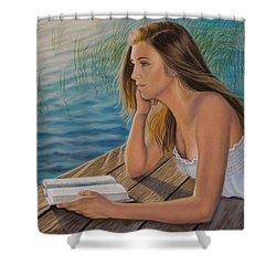 Dreamer Shower Curtain by Holly Kallie