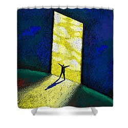 Discovery Shower Curtain by Leon Zernitsky
