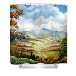 Shower Curtain featuring the painting Dreamin On by Patrice Torrillo