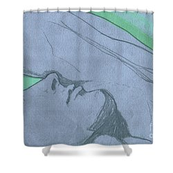 Dreaming Shower Curtain by First Star Art