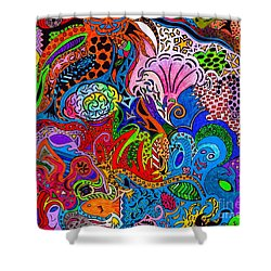 Dreaming In Color Shower Curtain by M West