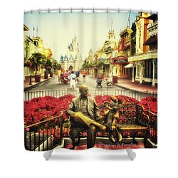 Dreaming Of Paradise Walt Disney World Shower Curtain by Thomas Woolworth