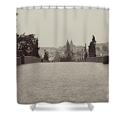 Dreaming Of Prague Shower Curtain by Ivy Ho