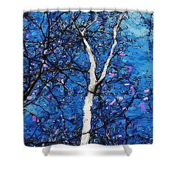 Shower Curtain featuring the digital art Dreaming Of Spring by David Lane