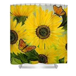 Shower Curtain featuring the painting Dreaming Of Summer by Carol Sweetwood