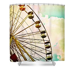 Dreaming Of Summer - Ferris Wheel Shower Curtain by Colleen Kammerer