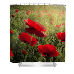 Dreaming Of The Morning Shower Curtain by Debra and Dave Vanderlaan