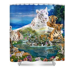 Dreaming Of Tigers  Variation  Shower Curtain
