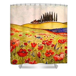 Dreaming Of Tuscany Shower Curtain