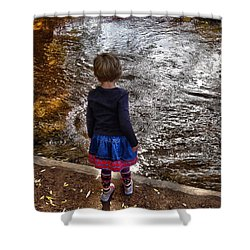 Shower Curtain featuring the photograph Dreaming On Water by Lanita Williams
