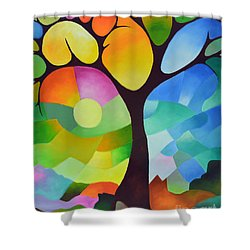 Dreaming Tree Shower Curtain by Sally Trace