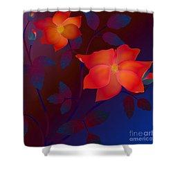 Dreaming Wild Roses Shower Curtain by Latha Gokuldas Panicker