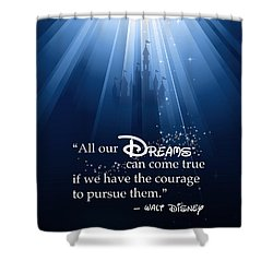 Shower Curtain featuring the digital art Dreams Can Come True by Nancy Ingersoll