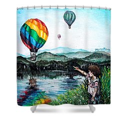 Shower Curtain featuring the painting Dreams Do Come True by Shana Rowe Jackson