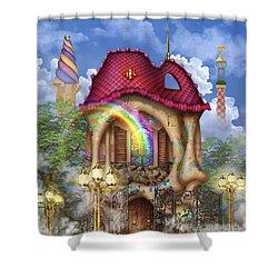 Dreams Of Gaudi Shower Curtain by Ciro Marchetti
