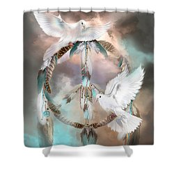 Dreams Of Peace Shower Curtain