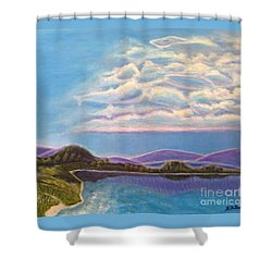 Shower Curtain featuring the painting Dreamscapes by Kimberlee Baxter