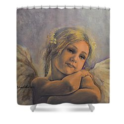 Dreamy Angel Shower Curtain by Dorina  Costras