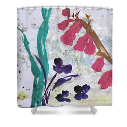 Dreamy Day Flowers Shower Curtain