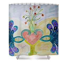 Dreamy Heart Shower Curtain by Sonali Gangane
