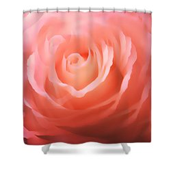 Dreamy Pink Rose Shower Curtain