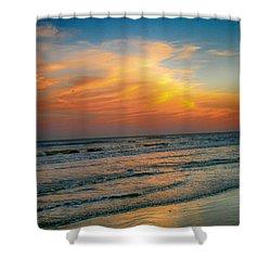 Dreamy Texas Sunset Shower Curtain by Kristina Deane