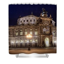Dresden Semperopera Shower Curtain by Steffen Gierok