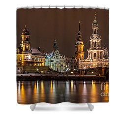 Dresden The Capital Of Saxony I Shower Curtain by Bernd Laeschke