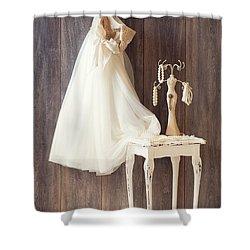Dress Shower Curtain by Amanda Elwell